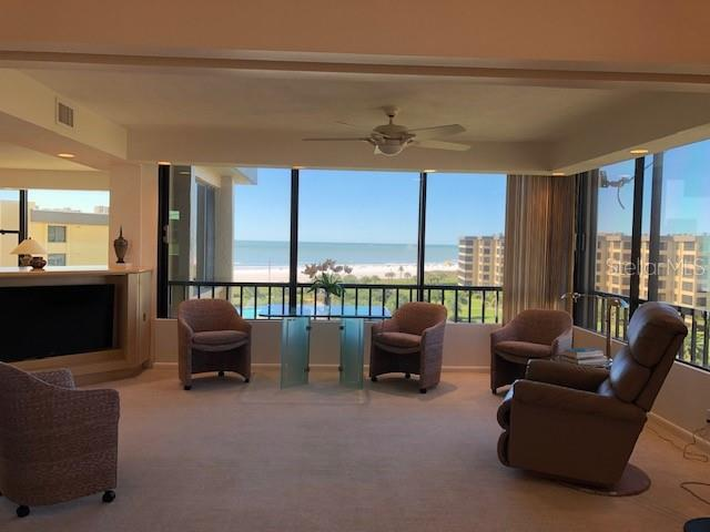 sitting area/family room west view - Condo for sale at 5780 Midnight Pass Rd #701b, Sarasota, FL 34242 - MLS Number is A4422545