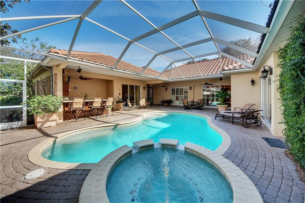 Pool/Spa - so relaxing and private! - Single Family Home for sale at 2972 Jeff Myers Cir, Sarasota, FL 34240 - MLS Number is A4424133