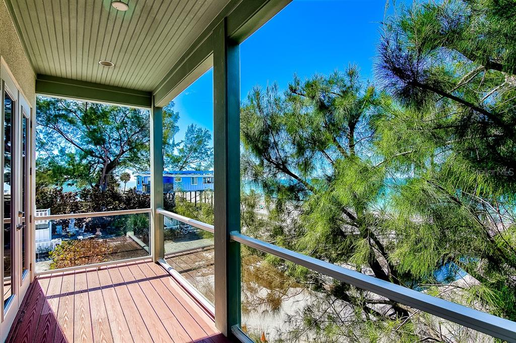 West Master Bedroom Deck - Duplex/Triplex for sale at 2500 Gulf Dr N, Bradenton Beach, FL 34217 - MLS Number is A4424506