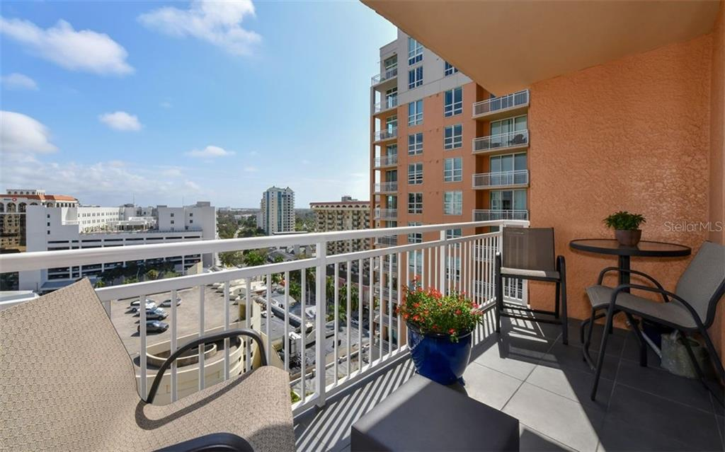 View from the living room terrace - Condo for sale at 1350 Main St #1201, Sarasota, FL 34236 - MLS Number is A4427507