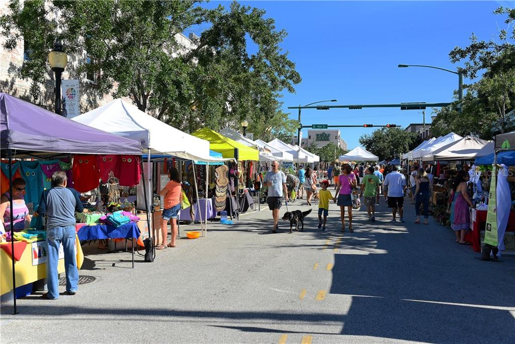 One of the many festivals held in downtown Sarasota - Condo for sale at 1350 Main St #1201, Sarasota, FL 34236 - MLS Number is A4427507