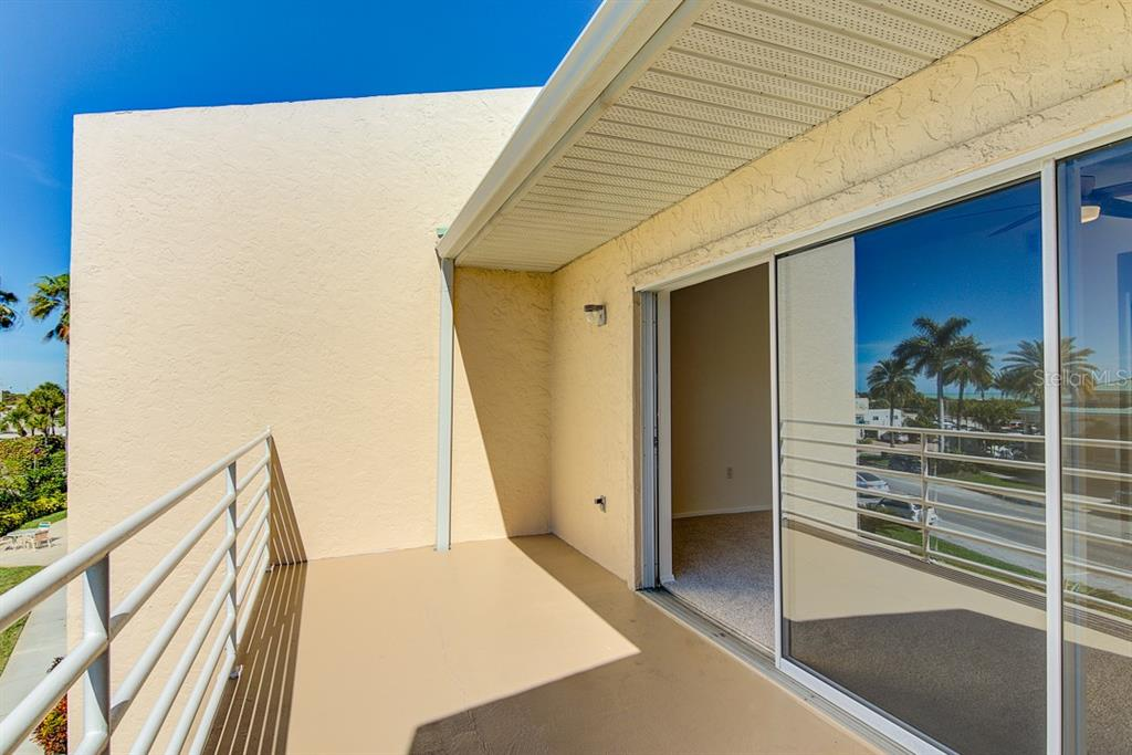 3rd floor balcony off of master - Condo for sale at 773 Benjamin Franklin Dr #7, Sarasota, FL 34236 - MLS Number is A4427752