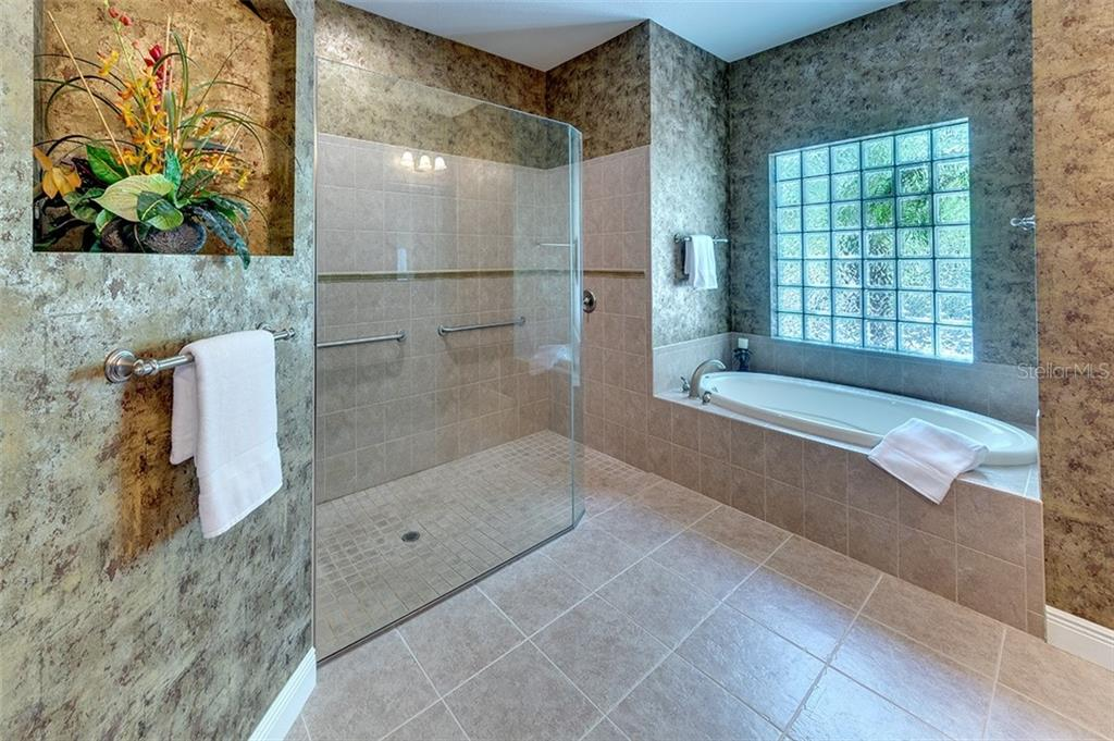 Gorgeous shower area of master bath - Single Family Home for sale at 3753 Eagle Hammock Dr, Sarasota, FL 34240 - MLS Number is A4431001