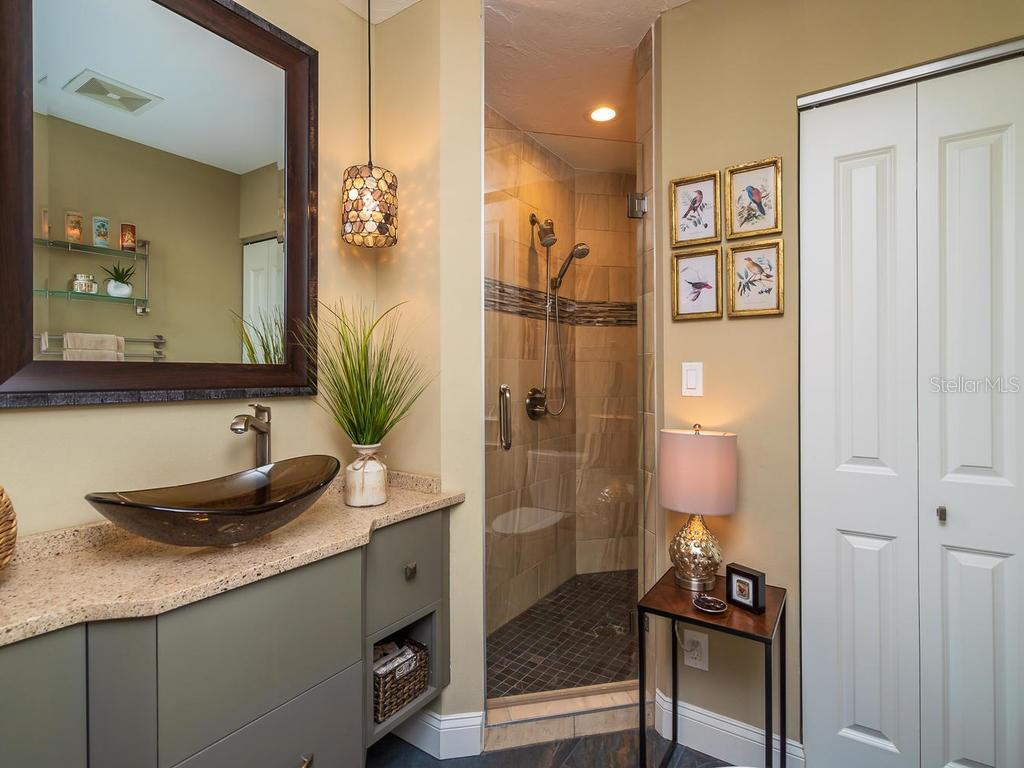 Guest Bathroom - Condo for sale at 340 S Palm Ave #74, Sarasota, FL 34236 - MLS Number is A4432744