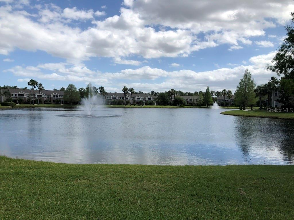 Lake view from front of unit - Condo for sale at 8923 Manor Loop #106, Lakewood Ranch, FL 34202 - MLS Number is A4434002