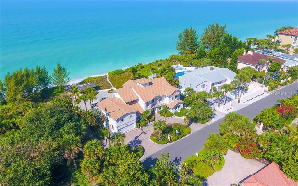 Straight Aerial - Single Family Home for sale at 3809 Casey Key Rd, Nokomis, FL 34275 - MLS Number is A4437924