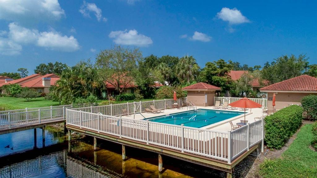 The bridge and pool - Condo for sale at 1742 Landings Blvd #38, Sarasota, FL 34231 - MLS Number is A4439252