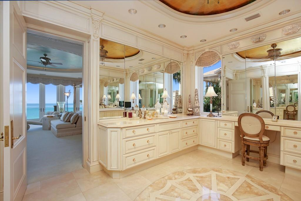 Master bedroom closet - Single Family Home for sale at 845 Longboat Club Rd, Longboat Key, FL 34228 - MLS Number is A4440615