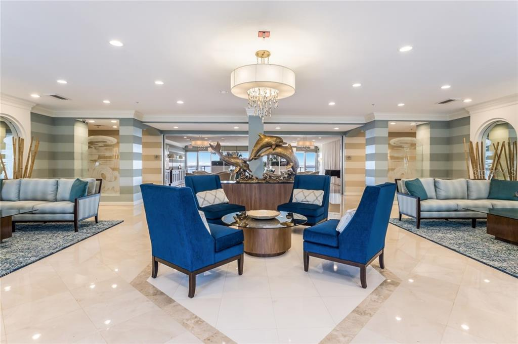 Building Main Lobby and Entrance. - Condo for sale at 1800 Benjamin Franklin Dr #b408, Sarasota, FL 34236 - MLS Number is A4444789