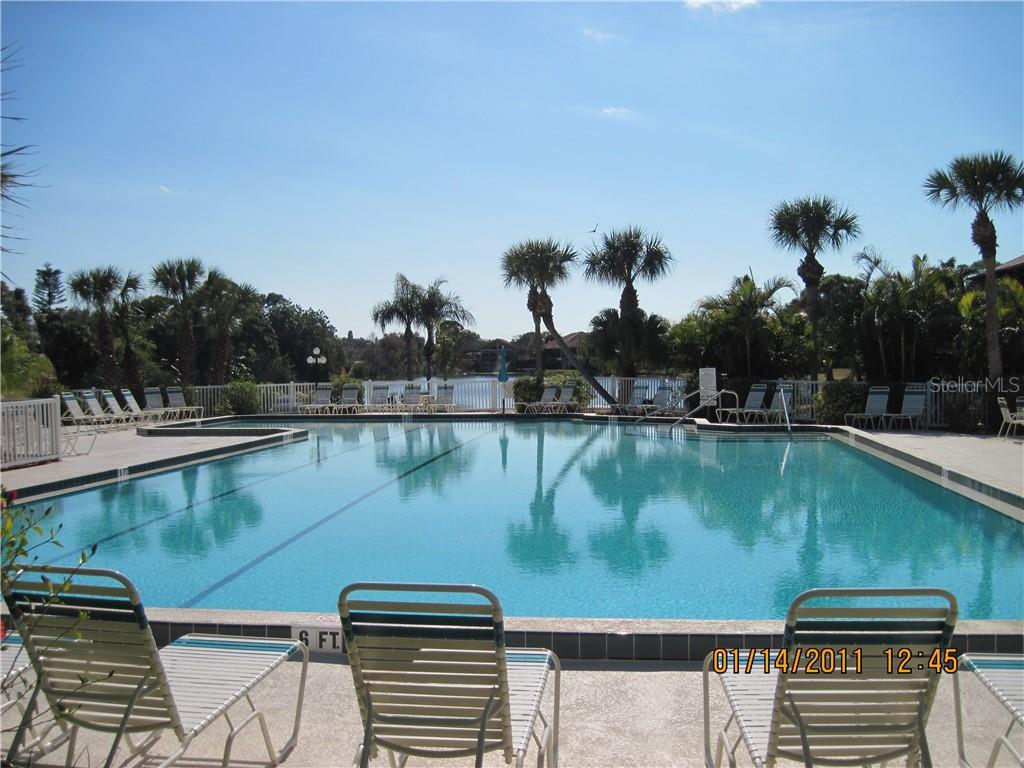 Heated community pool with lap lane - Condo for sale at 5525 Ashton Lake Dr #5525, Sarasota, FL 34231 - MLS Number is A4451290
