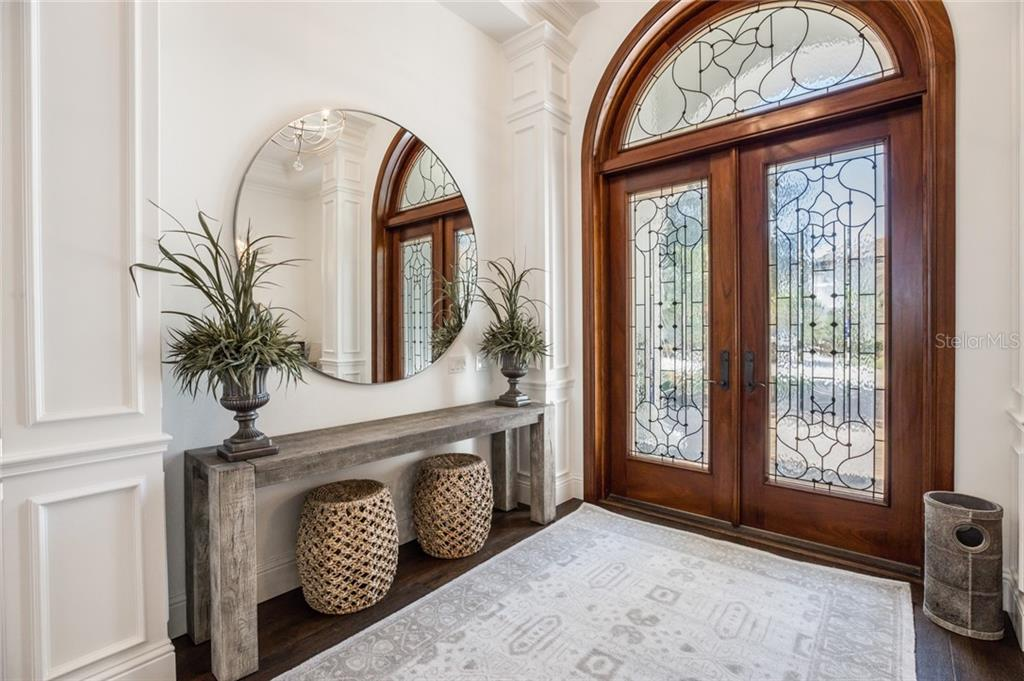 GENEROUS SIZE FOYER WITH CUSTOM MILL WORK AND WRAPPED COLUMNS - Single Family Home for sale at 12551 Highfield Cir, Lakewood Ranch, FL 34202 - MLS Number is A4452079