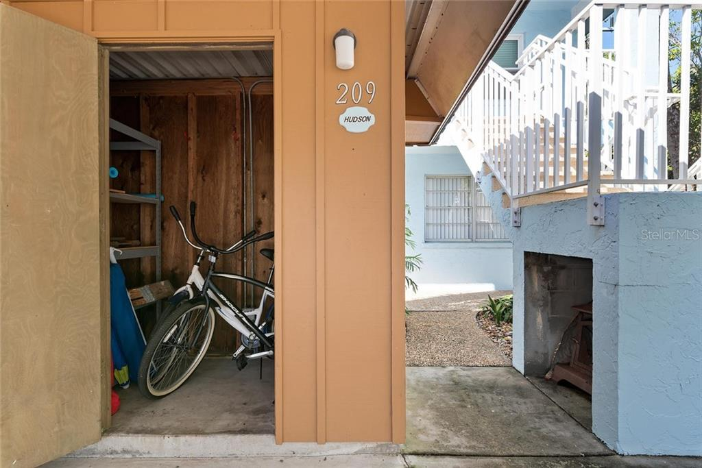 The large storage unit can hold all of your beach toys - Condo for sale at 4307 Gulf Dr #209, Holmes Beach, FL 34217 - MLS Number is A4452656