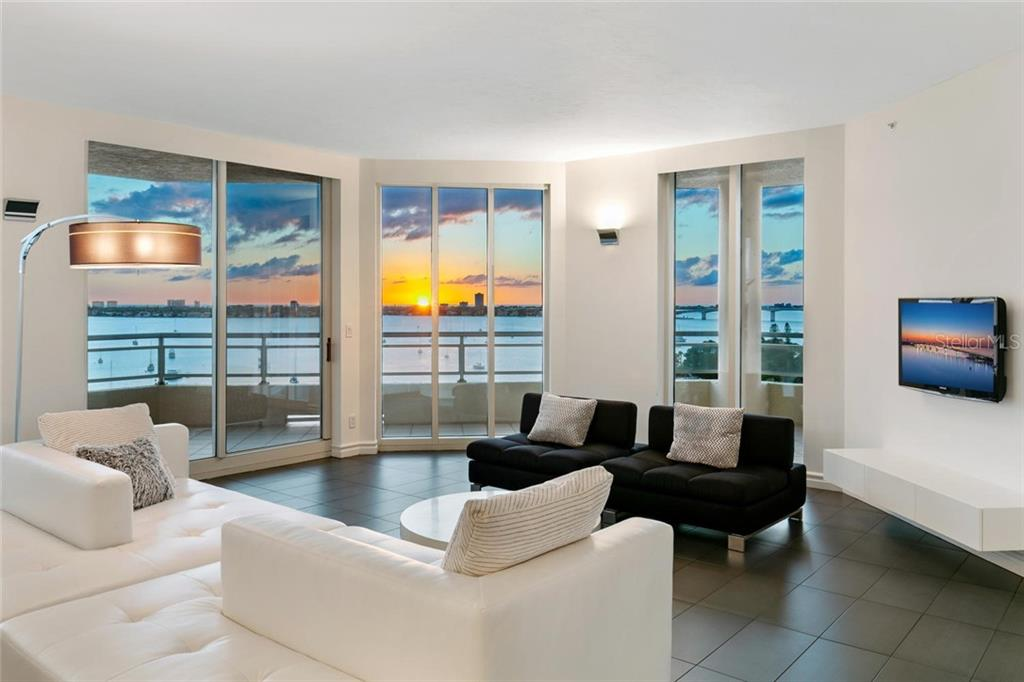 Living room and terrace. - Condo for sale at 500 S Palm Ave #91, Sarasota, FL 34236 - MLS Number is A4454405