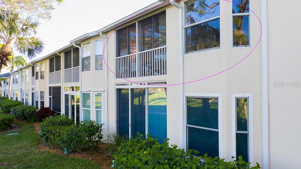 Glassed-in lanai and master bedroom windows - Condo for sale at 9570 High Gate Dr #1722, Sarasota, FL 34238 - MLS Number is A4457005