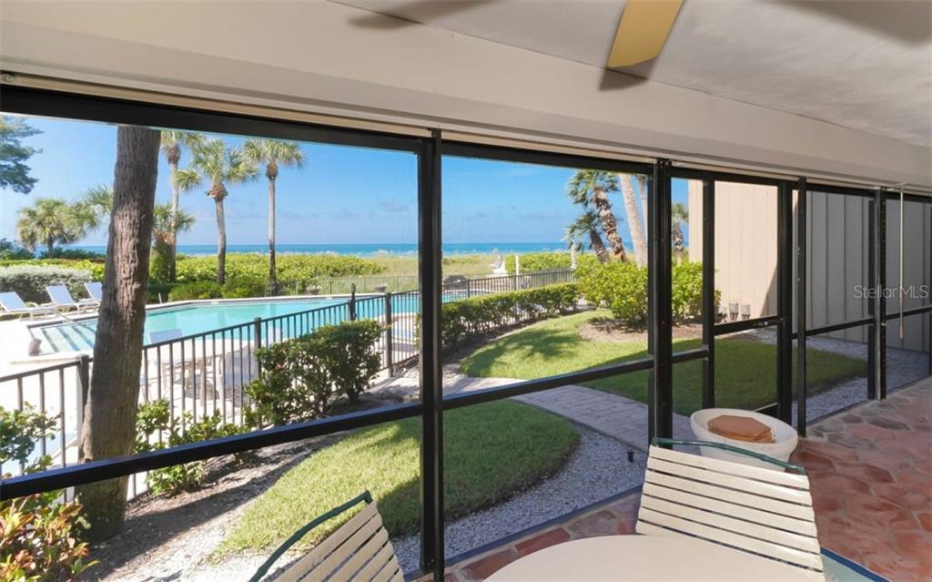 Storm Shutters on the Lanai - Condo for sale at 5635 Gulf Of Mexico Dr #102, Longboat Key, FL 34228 - MLS Number is A4458745