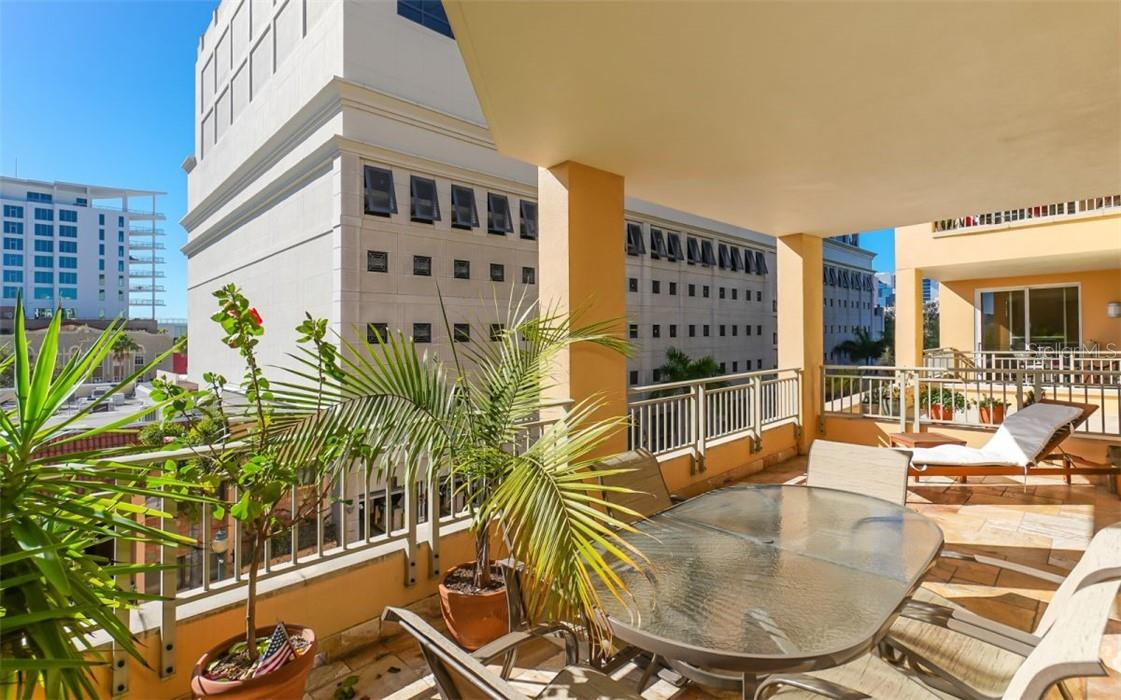 A large terrace for your enjoyment - Condo for sale at 100 Central Ave #A304, Sarasota, FL 34236 - MLS Number is A4458873
