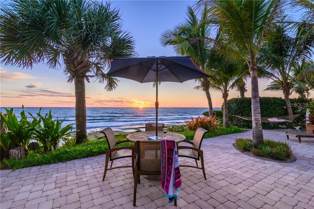 Sunset over The Gulf of Mexico. - Single Family Home for sale at 7340 Point Of Rocks Rd, Sarasota, FL 34242 - MLS Number is A4461841