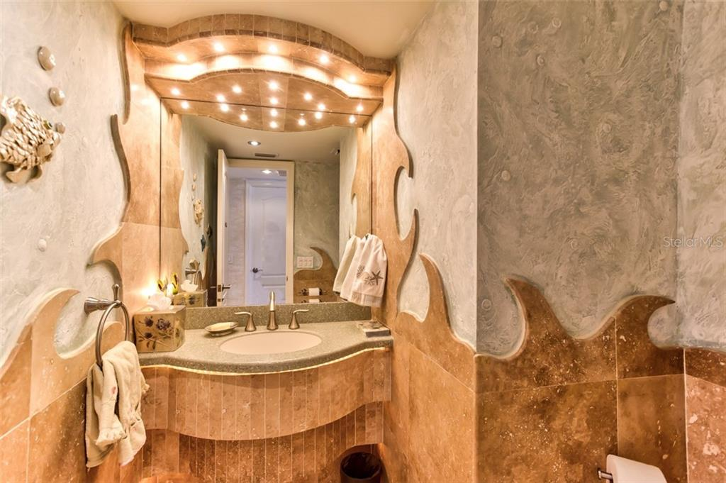 Powder room includes the gulf waves - Condo for sale at 5880 Midnight Pass Rd #911, Sarasota, FL 34242 - MLS Number is A4462559