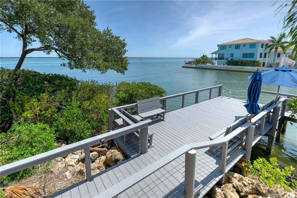 Bayside pier. - Condo for sale at 515 Forest Way, Longboat Key, FL 34228 - MLS Number is A4465231