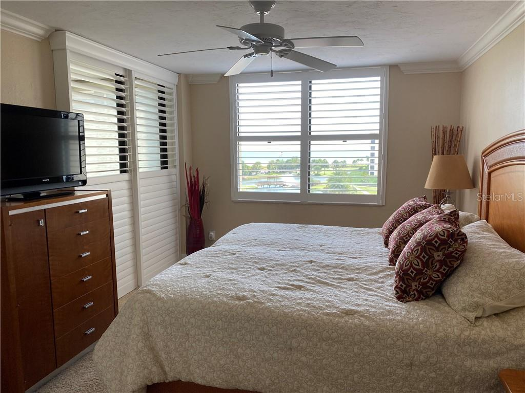 Master bedroom has beautiful view and opens to the lanai. - Condo for sale at 5770 Midnight Pass Rd #509c, Sarasota, FL 34242 - MLS Number is A4472645