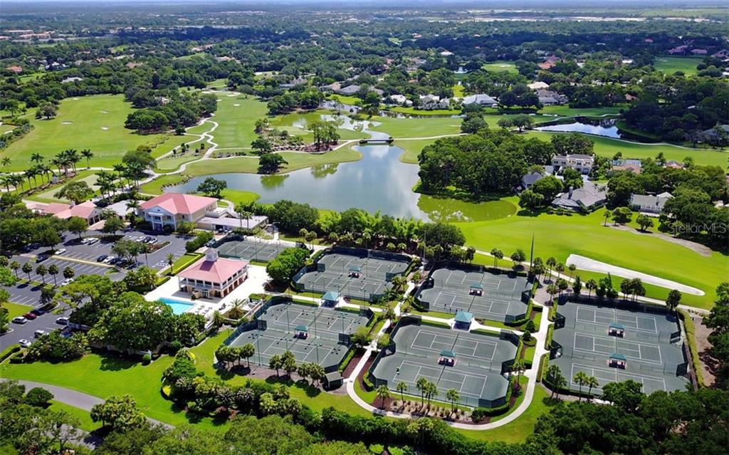 Aerial of The Oaks Club Amenities - Condo for sale at 41 Bishops Court Rd #119, Osprey, FL 34229 - MLS Number is A4475081