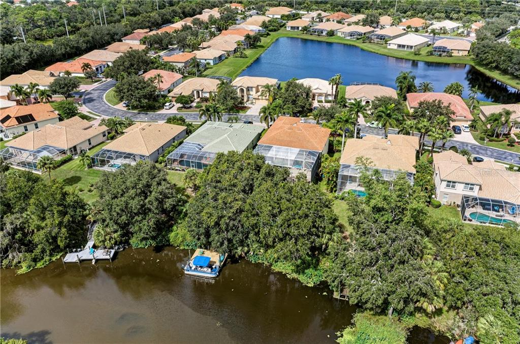 Arial view of the subdivision - Single Family Home for sale at 7118 68th Dr E, Bradenton, FL 34203 - MLS Number is A4480398