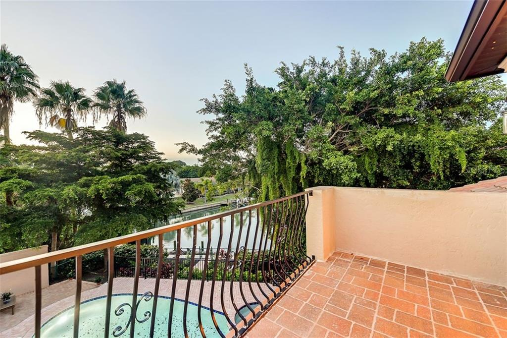 A large terrace off the home theatre room to enjoy all those amazing sunsets on the water nightly ! - Single Family Home for sale at 501 Cutter Ln, Longboat Key, FL 34228 - MLS Number is A4480484