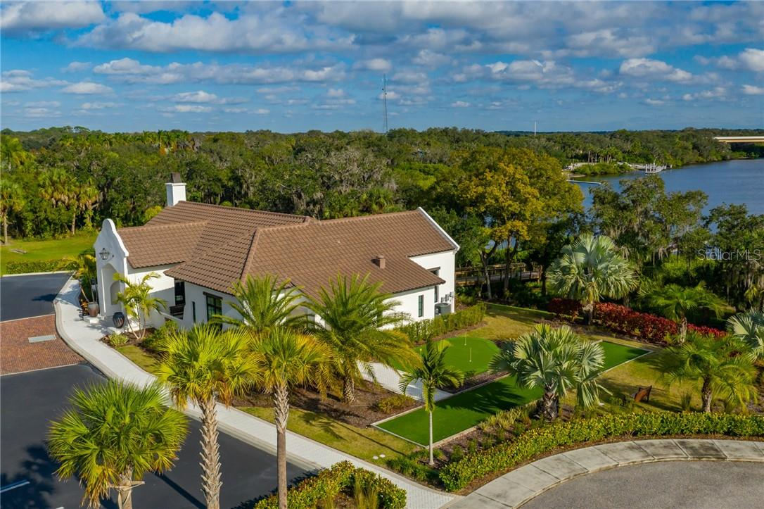 The Putting Green and Bocce Ball Court next to the River Lodge ... an exclusive amenity for the residents and owners of The Islands on the Manatee River. - Single Family Home for sale at 11720 Rive Isle Run, Parrish, FL 34219 - MLS Number is A4486302