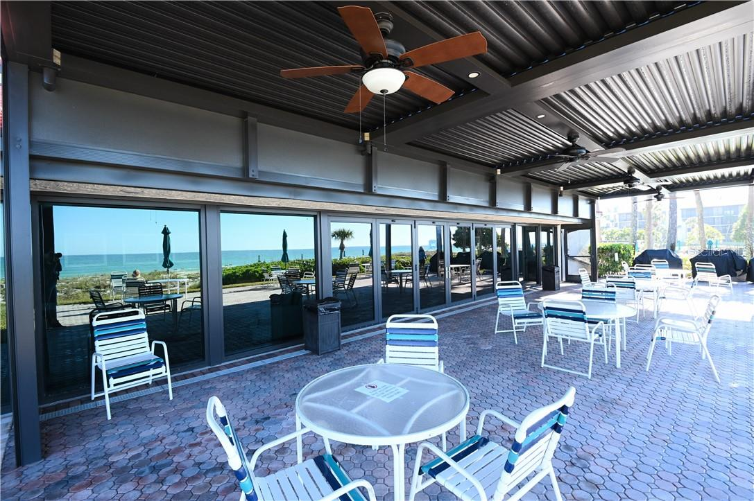 Seaplace Covered Seating Area with view of Gulf of Mexico Beach - Condo for sale at 1945 Gulf Of Mexico Dr #M2-505, Longboat Key, FL 34228 - MLS Number is A4489188