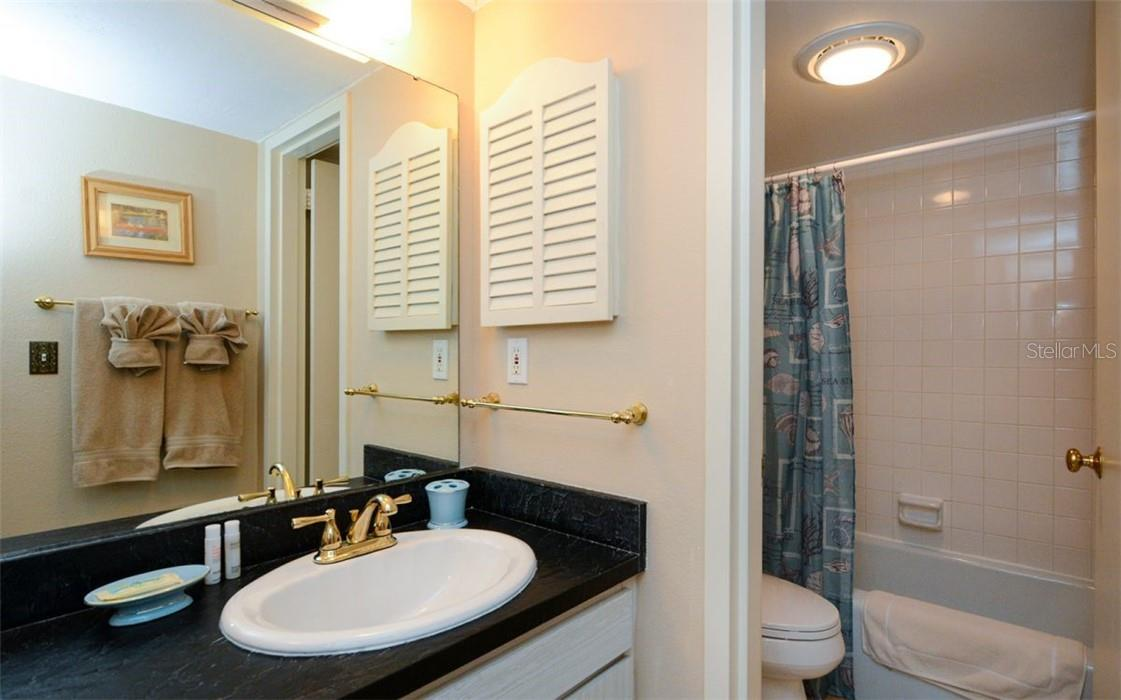 Guest Bathroom - Condo for sale at 1200 E Peppertree Ln #602, Sarasota, FL 34242 - MLS Number is A4495963