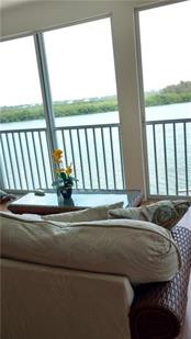 View from master sitting room - Condo for sale at 9209 Midnight Pass Rd #5, Sarasota, FL 34242 - MLS Number is A4185067