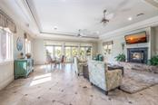 Family Gathering Room Partial Gulf of Mexico Views - Single Family Home for sale at 420 N Casey Key Rd, Osprey, FL 34229 - MLS Number is A4198418