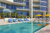 Swimming pool and sun deck - Condo for sale at 1155 N Gulfstream Ave #305, Sarasota, FL 34236 - MLS Number is A4202467