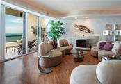 Tray ceiling, dramatic lighting, electric fireplace. - Condo for sale at 435 L Ambiance Dr #k806, Longboat Key, FL 34228 - MLS Number is A4406683