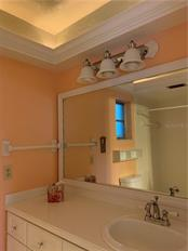 Master Bath with Raised Ceiling - Villa for sale at 1528 Stafford Ln #1210, Sarasota, FL 34232 - MLS Number is A4421860
