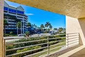 balcony off living room on 2nd floor - Condo for sale at 773 Benjamin Franklin Dr #7, Sarasota, FL 34236 - MLS Number is A4427752