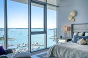 Beautiful views of the bay from the master - Condo for sale at 1155 N Gulfstream Ave #1909, Sarasota, FL 34236 - MLS Number is A4461040