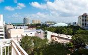 View from the terrace off the dining room - Condo for sale at 1350 Main St #701, Sarasota, FL 34236 - MLS Number is A4472236