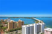 Bridge to Barrier Islands, Gulf of Mexico from SW terrace - Condo for sale at 35 Watergate Dr #1803, Sarasota, FL 34236 - MLS Number is A4476458