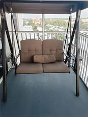 Swing on Balcony - Condo for sale at 6300 Midnight Pass Rd #701, Sarasota, FL 34242 - MLS Number is A4496847