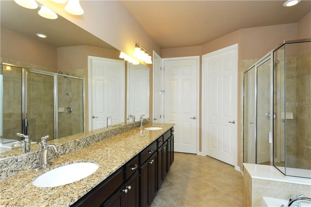 Master bath - one of three full baths and powder room, all with similar finish work - Single Family Home for sale at 19168 Jalisca St, Venice, FL 34293 - MLS Number is N5912651