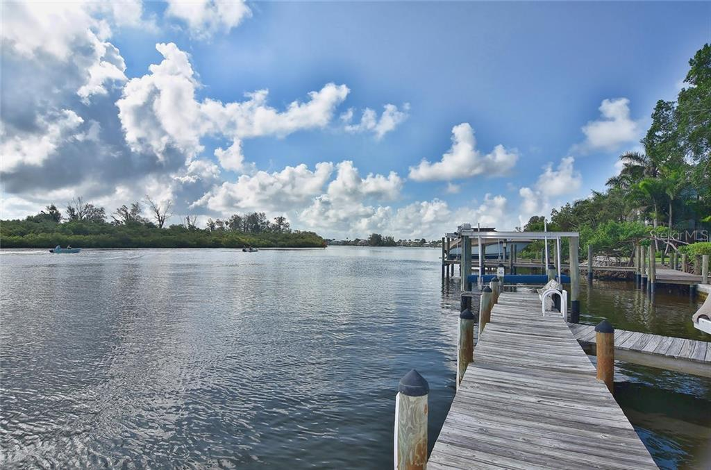 Dock - Single Family Home for sale at 616 S Casey Key Rd, Nokomis, FL 34275 - MLS Number is N6100721
