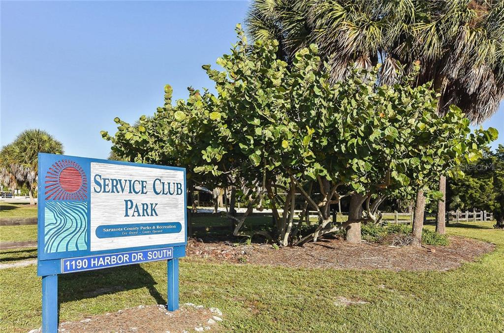 Service Club Park is the nearest beach.  This part of the Island has less traffic. Lots of parking.  It's a short bike ride away. - Single Family Home for sale at 316 Alba St E, Venice, FL 34285 - MLS Number is N6102095
