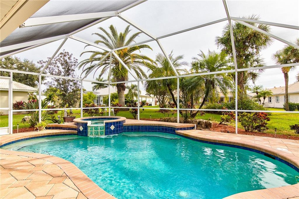 Pool Area - Single Family Home for sale at 531 Pennyroyal Pl, Venice, FL 34293 - MLS Number is N6103229