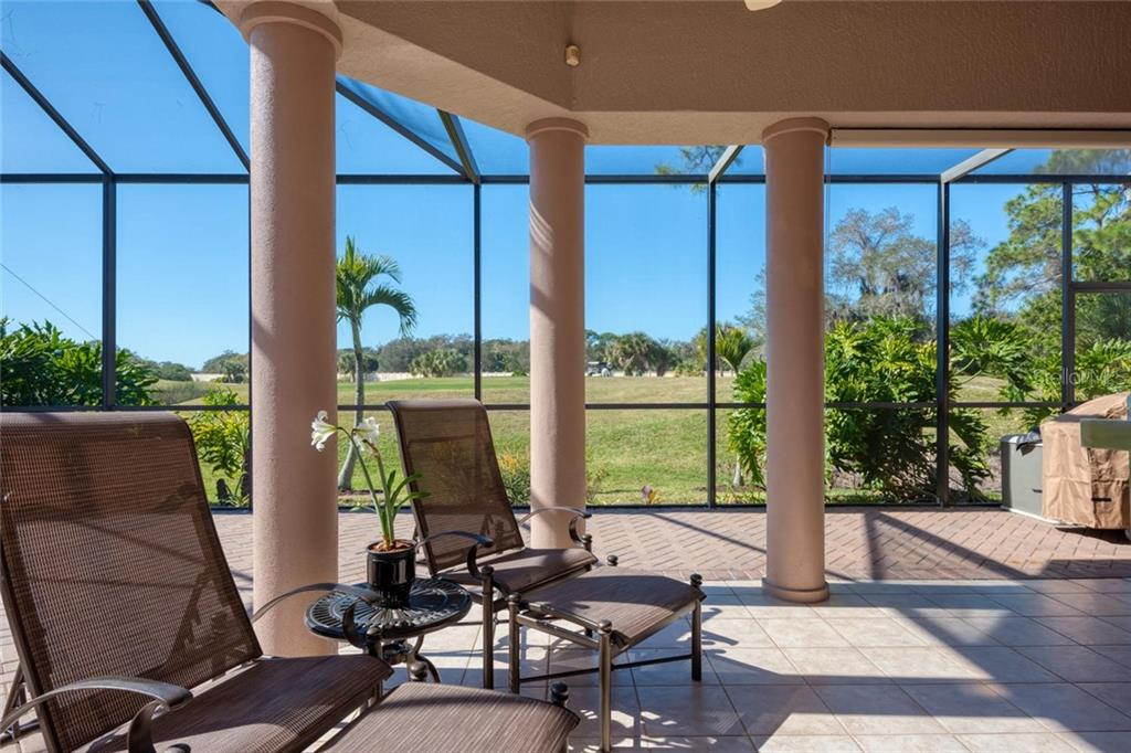 Cabana, tile flooring - Single Family Home for sale at 821 Adonis Pl, Venice, FL 34292 - MLS Number is N6104303