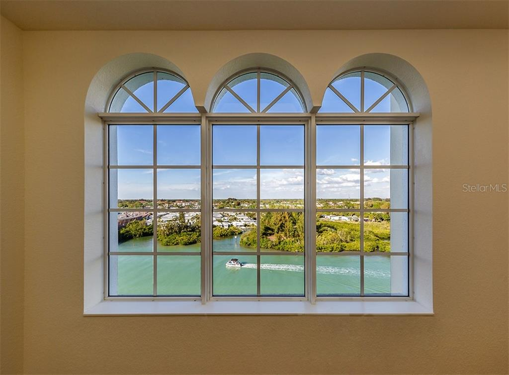 Beautiful arched windows with view of the Intracoastal Waterway - Condo for sale at 147 Tampa Ave E #902, Venice, FL 34285 - MLS Number is N6104823