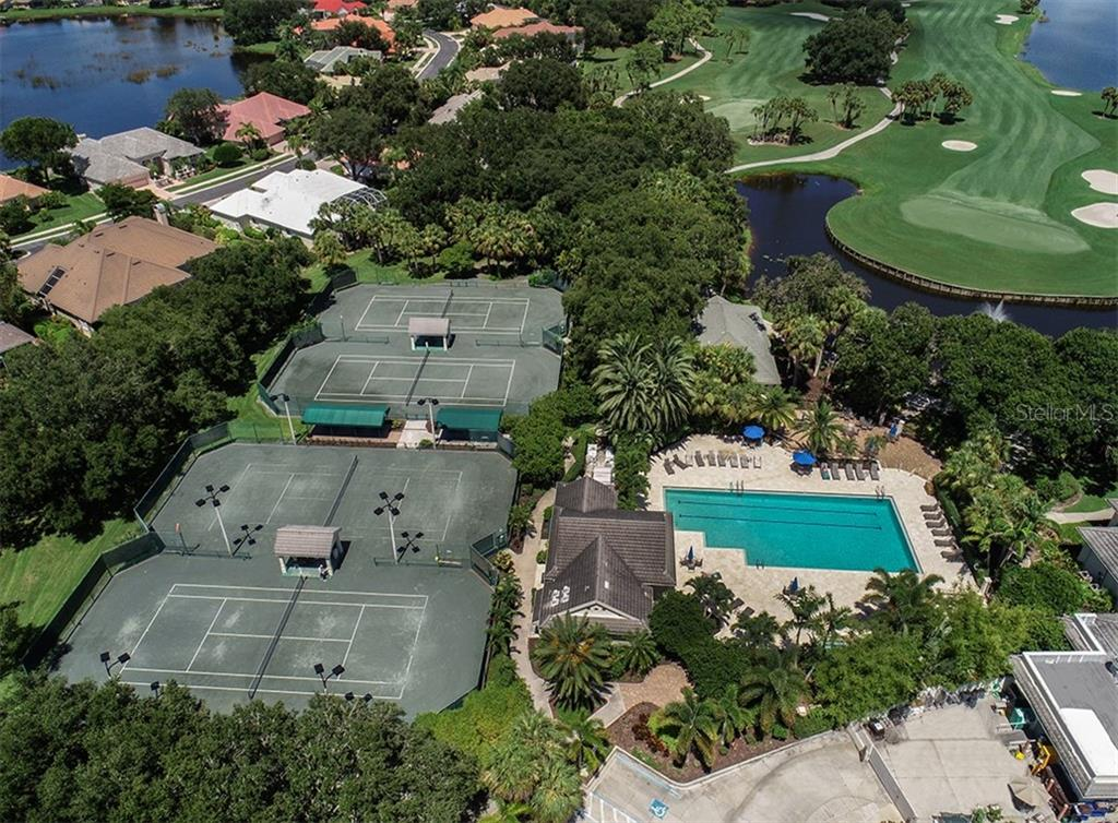Aerial of community amenities - Single Family Home for sale at 129 Wayforest Dr, Venice, FL 34292 - MLS Number is N6105216