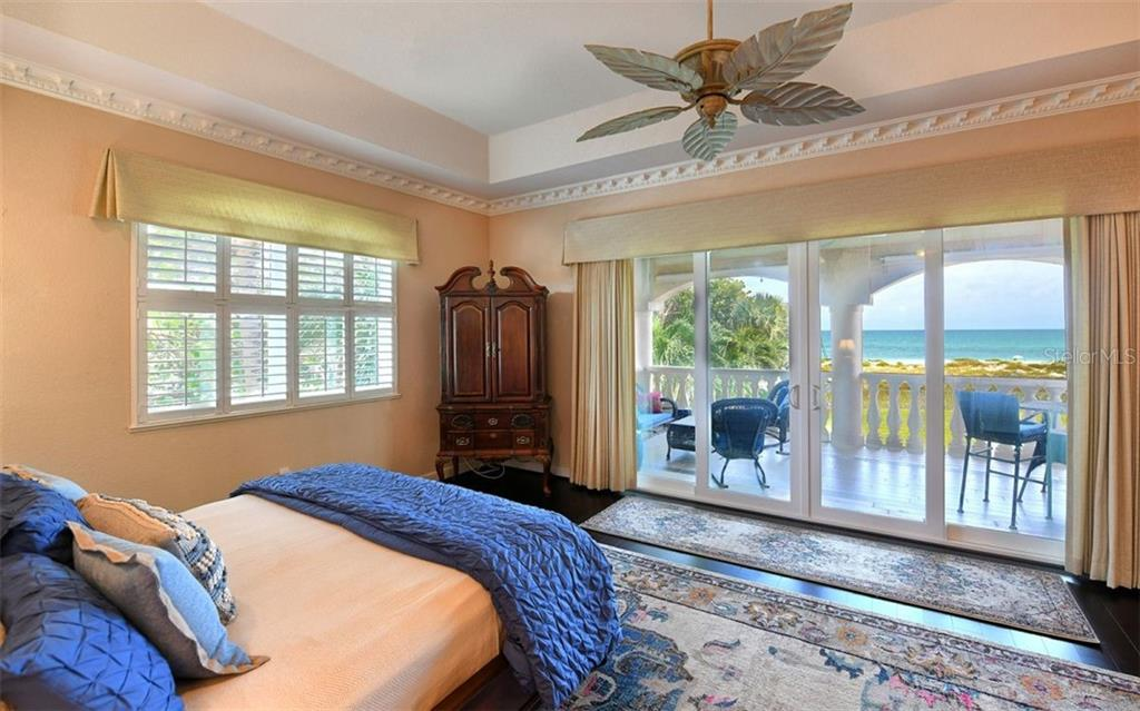 2nd floor master bedroom with view of the Gulf - Single Family Home for sale at 412 Hunter Dr, Venice, FL 34285 - MLS Number is N6105563