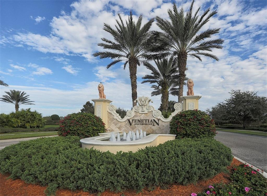 Entrance to the Venetian Golf and River Club - Single Family Home for sale at 106 Vicenza Way, North Venice, FL 34275 - MLS Number is N6106168