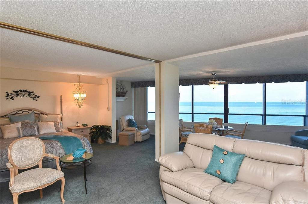 Living room, master bedroom - Condo for sale at 840 The Esplanade N #704, Venice, FL 34285 - MLS Number is N6107071